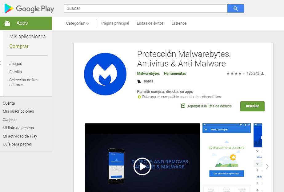Descargar Malwarebytes para Android